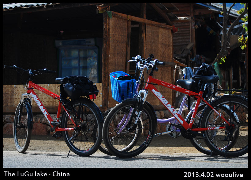 it is easy to renting bicycles around the lugu lake.